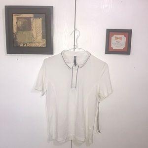 Lija Women's Polo Shirt Medium White Nylon Nice